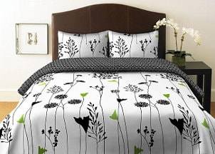 Crisp green and white duvet cover