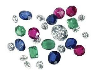 A spill of multicolor gemstones