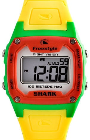 Bright yellow, red and green digital Freestyle watch