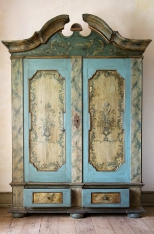 A beautiful armoire storing valuables