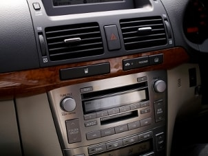 Car stereo installed in a vehicle dash