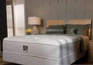 Queen mattress set with mattress and box springs
