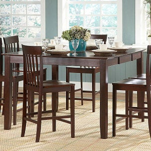 piece dining set margarita high top bar black wicker dining table set