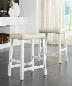 Four bar stools all different colors