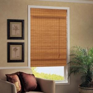 Beautiful bamboo Roman shade