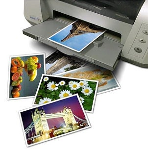 Color photo printer using ink cartridges