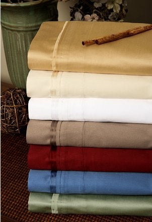 Luxury sheets made from a sateen weave