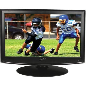 Wide flatscreen TV with an LCD screen