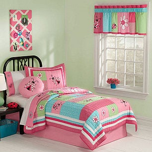 Add style with cute girls' bedding