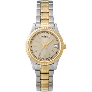 Popular women's two tone Timex watch