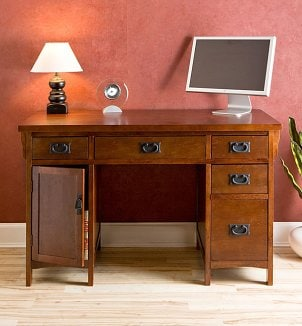 An attractive wooden office desk