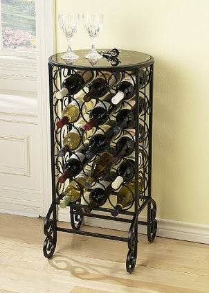 Unique wine rack table