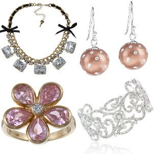 A collection of beautiful prom-ready costume jewelry
