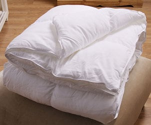 White goose down filled comforter