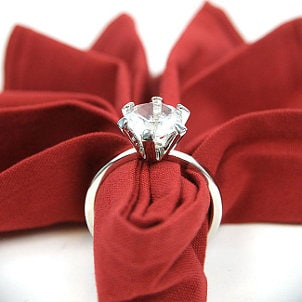 A jewelry-inspired napkin ring
