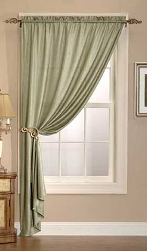 Silk curtain panels add elegance to any home