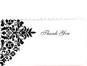 Pack of blank Thank You cards