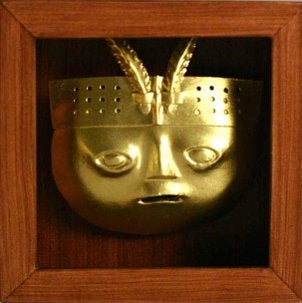 A Peruvian mask can accent your home