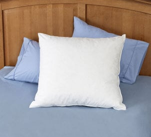 Oversized Euro pillows are a comfy addition to your bedding