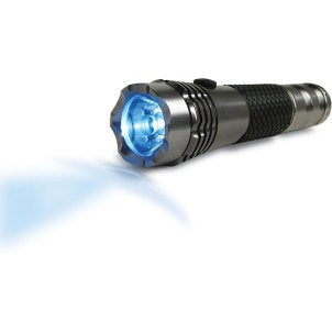 Sturdy blue LED flashlight
