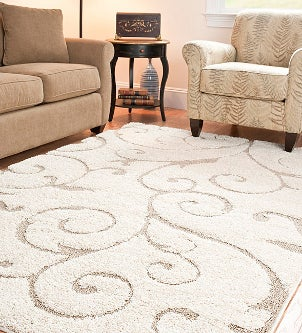Furniture feet can leave dents in your area rug