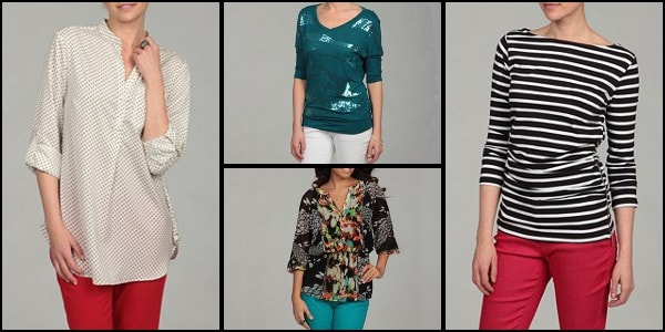 Three-quarter-sleeve women's shirts
