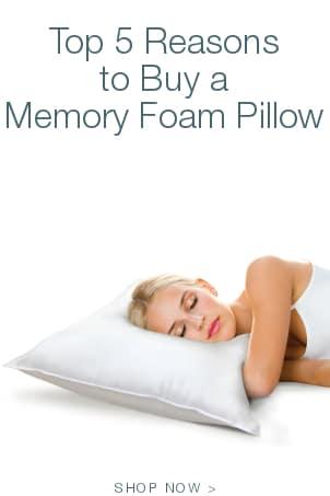 Top 5 Reasons to Buy a Memory Foam Pillow