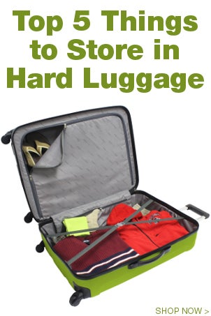 Top 5 Things to Store in Hard Luggage