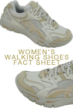 Women's Walking Shoes Fact Sheet