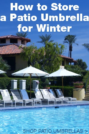 How to Store a Patio Umbrella for Winter