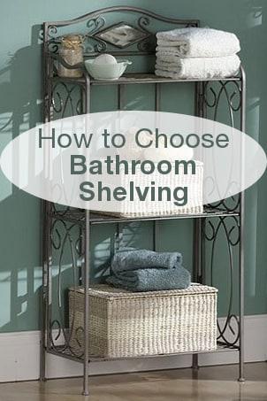 How to Choose Bathroom Shelving