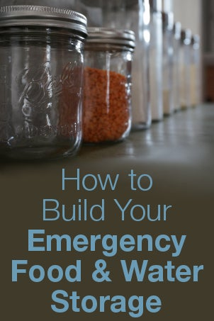 How to Build Your Emergency Food and Water Storage