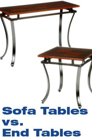 Sofa Tables vs End Tables