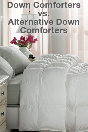 down comforters vs alternative down comforters. Black Bedroom Furniture Sets. Home Design Ideas