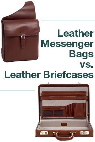 Leather Messenger Bags vs Leather Briefcases