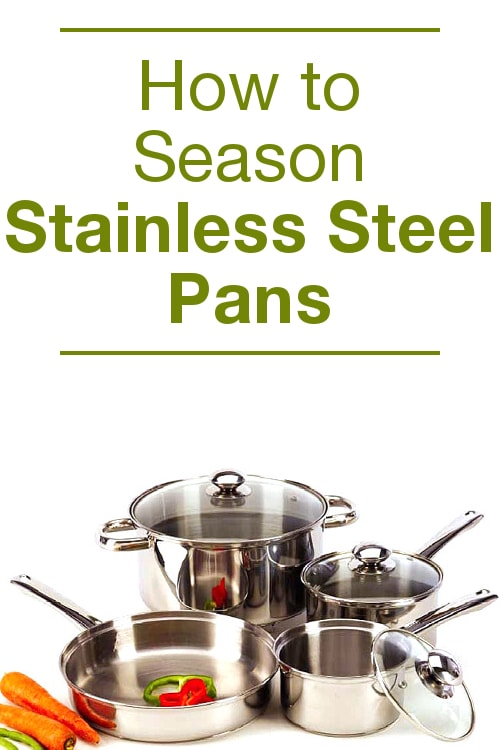 how to season stainless steel pans overstock. Black Bedroom Furniture Sets. Home Design Ideas
