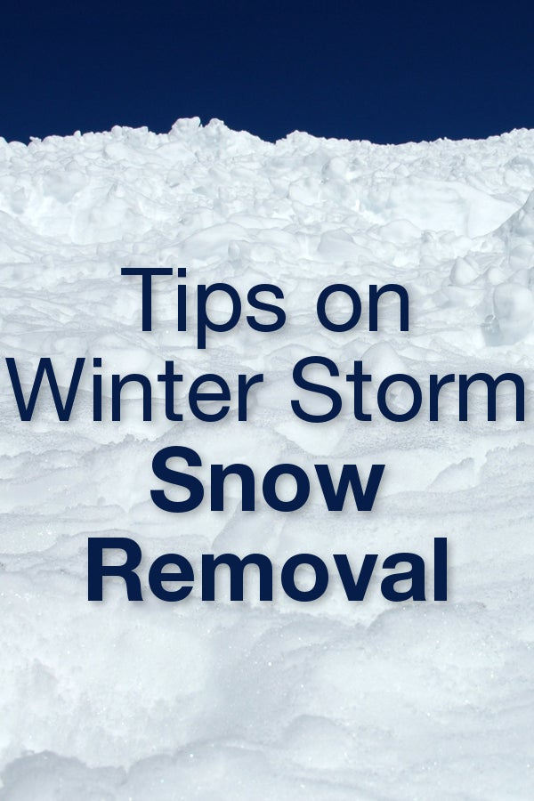 Tips on Winter Storm Snow Removal