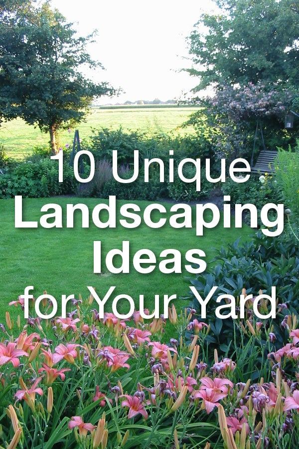 10 Unique Landscaping Ideas for Your Yard from Overstock™. Not sure what to do with your backyard? Make your outdoor space a personal oasis with these unique yard ideas.