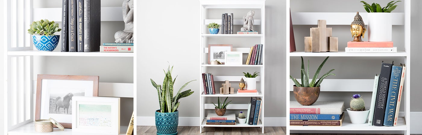 how to decorate shelves bookcases