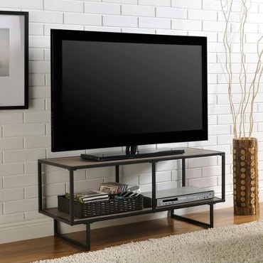 Open, minimalistic TV stand