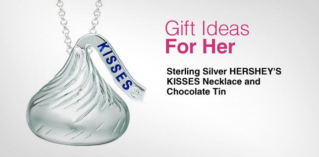 Gift Ideas for Her - Day 10 - Sterling Silver HERSHEY'S KISSES Necklace and Chocolate Tin