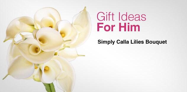 Gift Ideas for Him - Day 11 - Simply Calla Lilies Bouquet