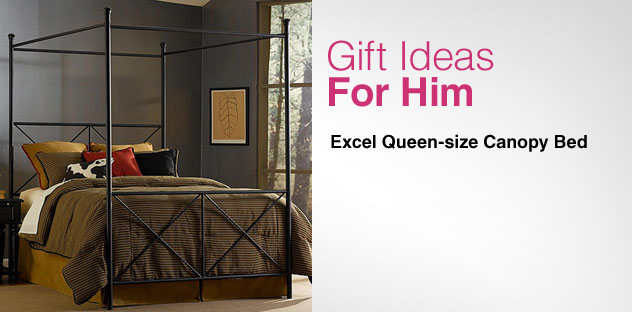 Gift Ideas for Him - Day 13 - Excel Queen-size Canopy Bed
