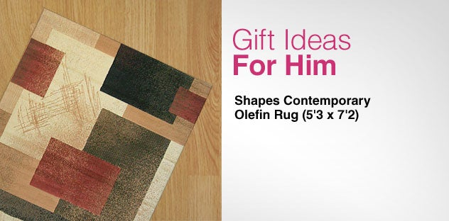 Gift Ideas for Him - Day 14 - Shapes Contemporary Olefin Rug (5'3 x 7'2)