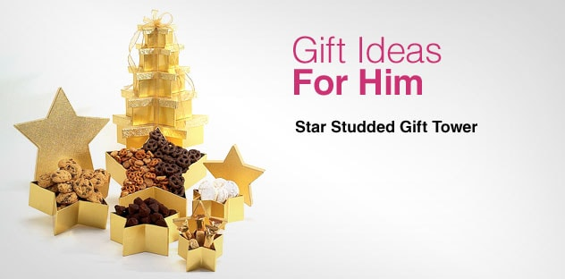 Gift Ideas for Him - Day 2 - Star Studded Gift Tower
