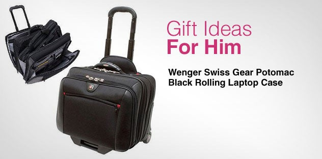 Gift Ideas for - Him Day 3 - Wenger Swiss Gear Potomac Black Rolling Laptop Case
