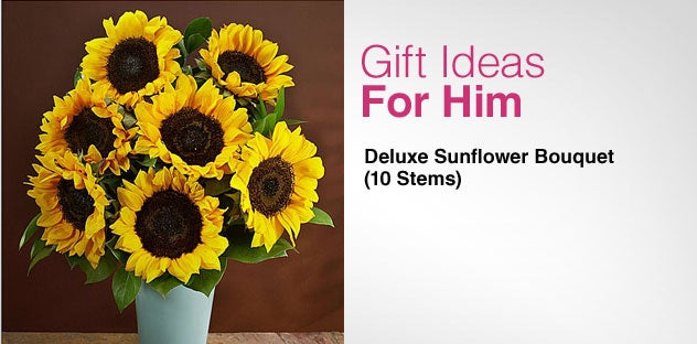 Gift Ideas for Him - Day 6 - Deluxe Sunflower Bouquet (10 Stems)
