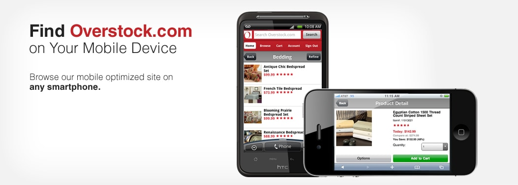 Browse Overstock.com from Smart Phones