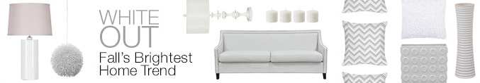 White Out, Fall's Brightest Home Trend