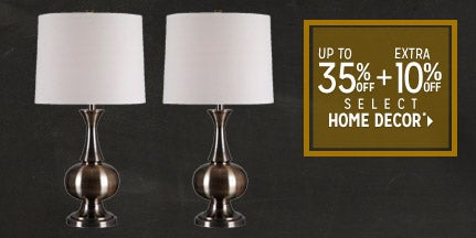 Extra 10% off Select Home Decor*